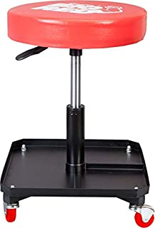 BIG RED TR6350 Torin Rolling Pneumatic Creeper Garage/Shop Seat: Padded Adjustable Mechanic Stool...