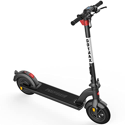 """Gotrax G4 Commuting Electric Scooter - 10"""" Air Filled Tires - 20MPH & 25 Mile Range, Black"""