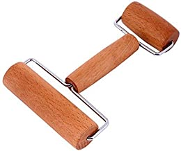 Lasten Pastry Pizza Baking Roller Pin, Non Stick Wood Rolling Pins for Baking(H-Shape)