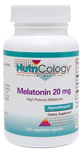 Nutricology - Melatonin 20 mg - 120 Capsules - Extra Strength, High Potency