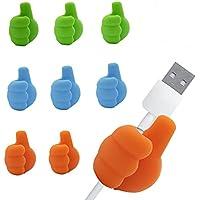 9-Pieces Desk Cable Management Clips Cord Organizer