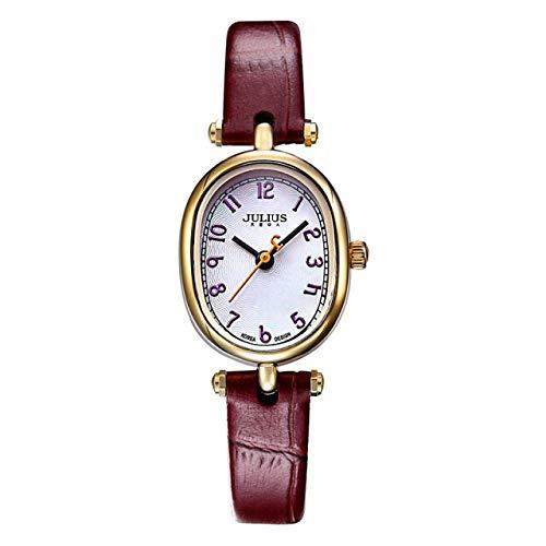 TONGTONG Top Julius - Reloj de pulsera para mujer, diseño de adoquines con horas, de piel, para escuela, niña, regalo de cumpleaños