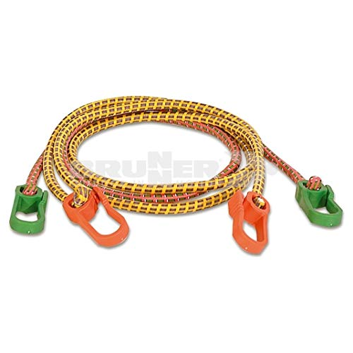BRUNNER Cordon de serrage élastique 100 cm Rouge/jaune
