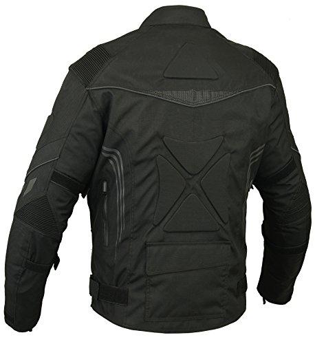 Rücken gepolstert Motorrad Jacke Wasserdicht Atmungsaktiv mit Protektoren – XL - 2
