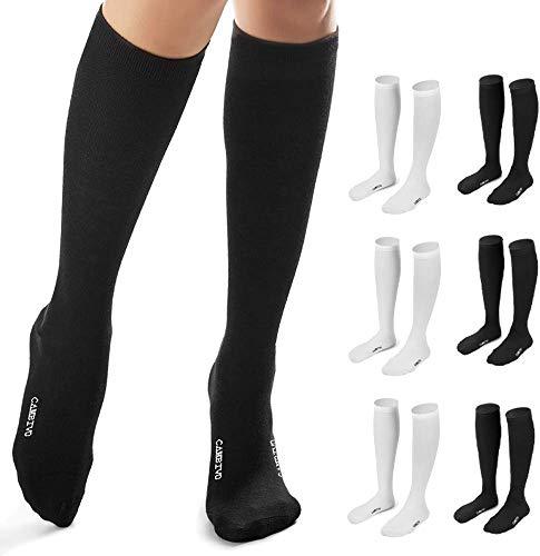 CAMBIVO - 6 pares de calcetines de compresión para mujer y hombre, calcetines de compresión, calcetín para deporte, Crossfit, Running, baloncesto, fútbol, trabajo