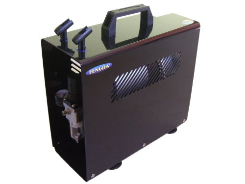 Hobby Airbrush compressor met het drukreservoir Fengda® AS-196 A