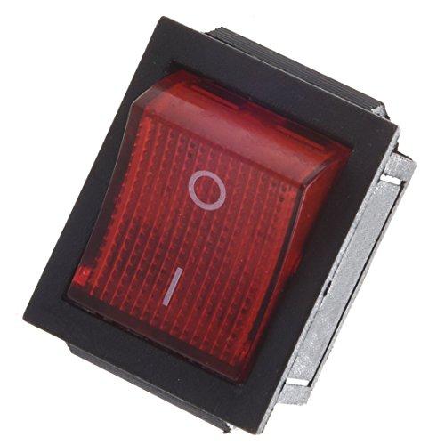 Luz roja iluminada de 4 pin DPST de SODIAL(R) con interruptor basculante de encendido/apagado 16 A 30 A 250 V CA.