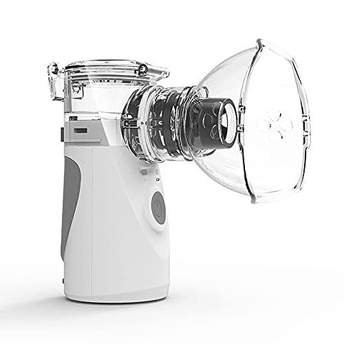 Inhalationsgerät,Tragbarer Inhalator Vernebler Set mit 1 Mundstück/2 Maske,8ml Leise Inhaliergerät für Kinder/Erwachsene Inhalations zur Behandlung von Husten,Asthma und anderen Atemwegserkrankungen
