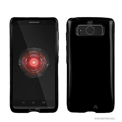 PimpCase Compatible with Droid Mini Case, XT1030, Ultra Slim Fit Hybrid Flexible Black TPU Soft Gel Skin Phone Cover
