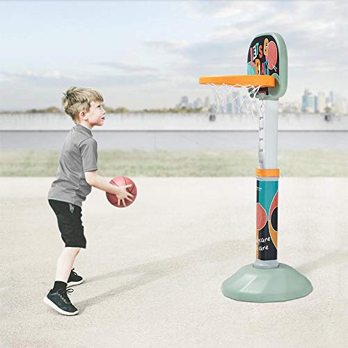 Find Discount FANGX Portable Kids Basketball Stand,Basketball Hoop Indoor Outdoor Home Shooting Bask...