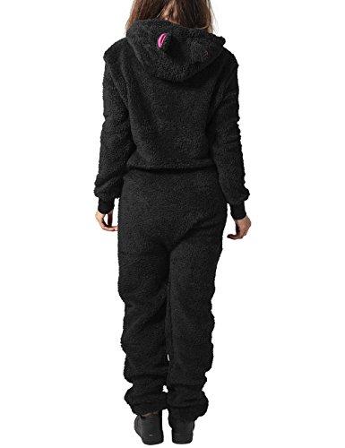 Urban Classics Damen Jumpsuits Ladies Teddy, Mehrfarbig (blk/FUC 23) - 2