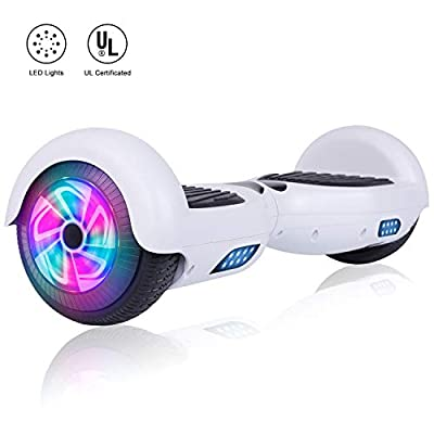 Felimoda Hoverboard 6.5 inch w/Bluetooth Speaker and LED Wheels Side Lights- UL2272 Certified
