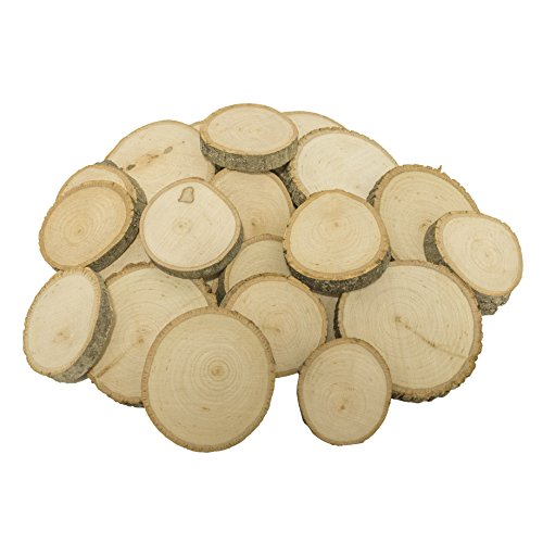 Walnut Hollow Extra Small Basswood Coasters Bulk Pack for Ornaments, Weddings and Craft Projects, (25 Pack)