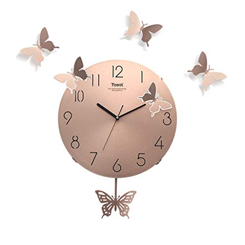 Reloj de Pared Reloj de Pared Luz Moderna Lujo Simple Home W