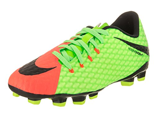 Nike Hypervenom Phinish Ii Fg, Botas de Fútbol Unisex Niños, Verde (Elctrc Green/black-hyper Orange-volt), 36 EU