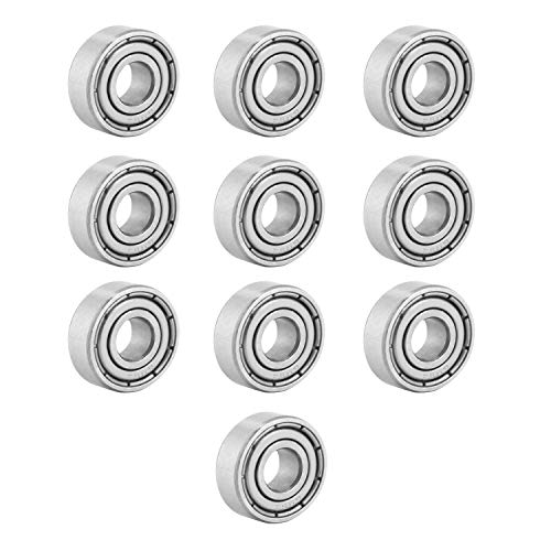 Donepart Small Bearings 5mm ID 13mm OD 4mm Width 695ZZ Bearings Double Shielded Miniature Deep Groove Ball Bearings (10 Pack)
