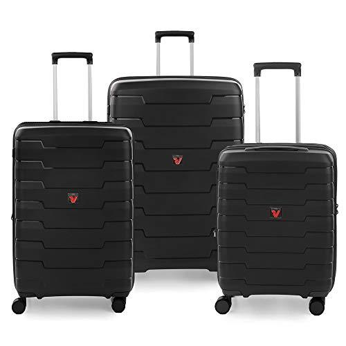 RONCATO Skyline set 3 maletas rígidas ampliables (ancho + medio + cabina) Negro