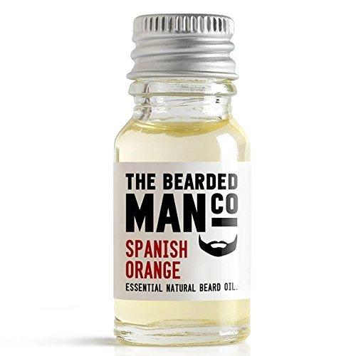 Huile de barbe orange espagnol conditionneur masculin toilettage cadeau 10ml