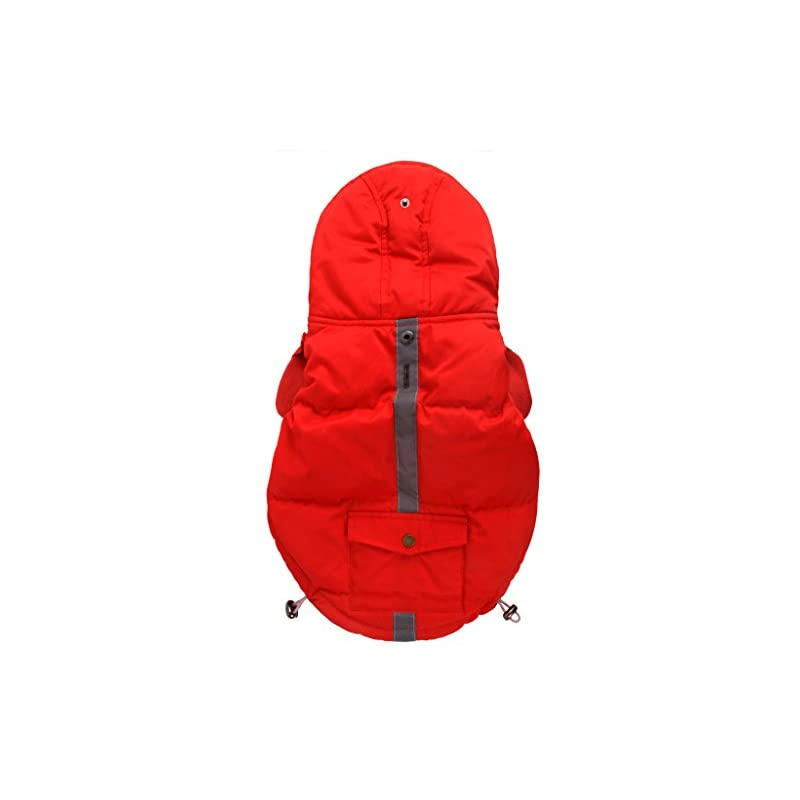 dog supplies online petbobo dog cat winter waterproof thicken down jacket coat hoodies outwear warm clothing for winter small large doggie dogs red medium