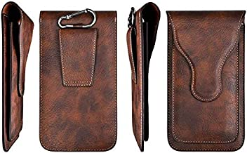 ELICA Brown Texture Magnetic Waist Bag Holster Belt Clip Case with 2 Pocket for Infinix Zero 5