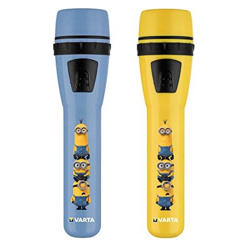Varta LED Minions Stableuchte inkl. 2x High Energy AA Batterien, 5 mm, blau oder gelb