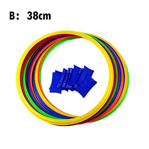 Set di anelli di marella con 10 cerchi e 10 connettori, ideale per ragazzi, ragazze, interni ed esterni., -, Un 28cm