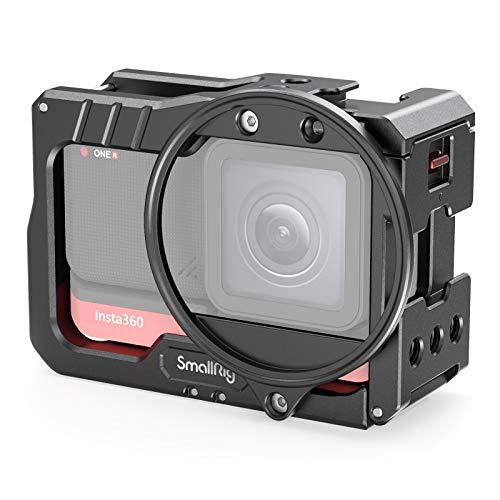 SMALLRIG Vlogging metalowa klatka z adapterem filtra 52mm kompatybilny z Insta360 ONE R 4K Edition - 2901