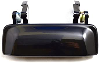 PT Auto Warehouse FO-3545ZS-F - Outside Exterior Outer Door Handle, Smooth Black - Metal, Front (Left = Right)