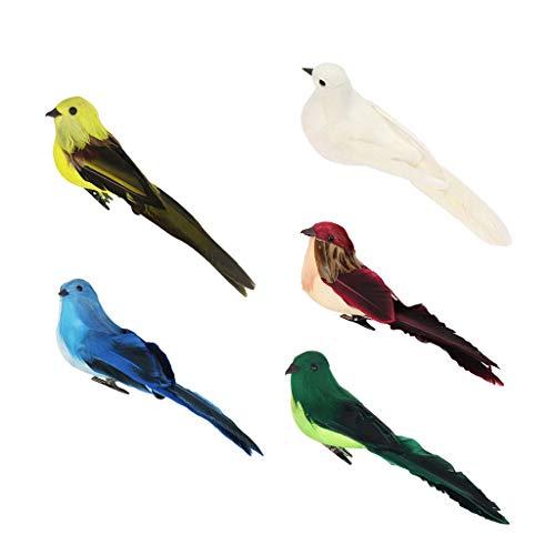 perfk 5X Oiseau Modèle Jouet Simulation Toucan Jouet Poupée de Collection Animaux Miniatures