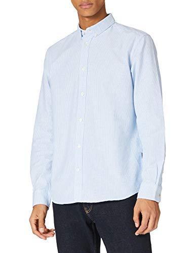 Tom Tailor 1023873 Stripe Camisa, Bright Ibiza 25866-Juego de Mesa (2 Unidades), diseño de Rayas, Color Azul, XXL para Hombre
