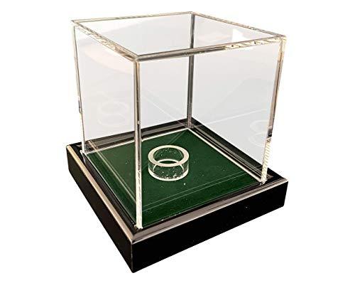 Universal acrilico vetrina 10 x 10 x 10 cm / Showcase / bacheca con verde velluto , per palla da tennis, baseball, palla da Golf , Personaggi, modelli, orologi