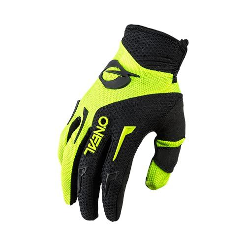 O'NEAL | Fahrrad- & Motocross-Handschuhe | Kinder | MX MTB DH FR Downhill Freeride | Langlebige, Flexible Materialien, belüftete Handinnenfäche | Element Youth Glove | Schwarz Neon-Gelb | Größe XL