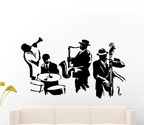 JHLP Jazz Saxophone Instrument Band Music Player Sticker Art Vinyl Drum bass Vinyl Mural 42X80CM