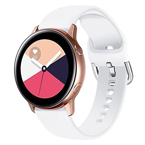 LLKHFA Correa de silicona para reloj Samsung Galaxy Watch 42 mm Active2 40/44 mm suave para reloj deportivo Samsung S2 Classic (color de la correa: color 19, ancho de la correa: para Amazfit Bip)