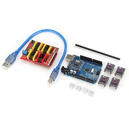 Changor Complete Expansion Board Kit, Motor Driver Module Electronics Kit for a4988