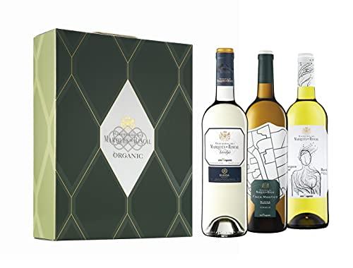 Marqués de Riscal - Vino blanco Denominación de Origen Rueda, 100% Organic - Estuche 3 botellas x 750 ml - Verdejo, Finca Montico y Sauvignon Blanc - Total 2250 ml