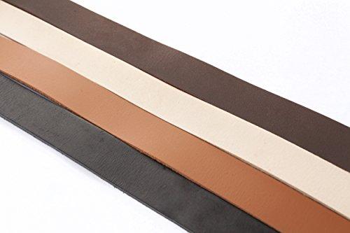 esnado Lederband, Lederriemen Flach 20 x 2 mm. Braun 1 Meter