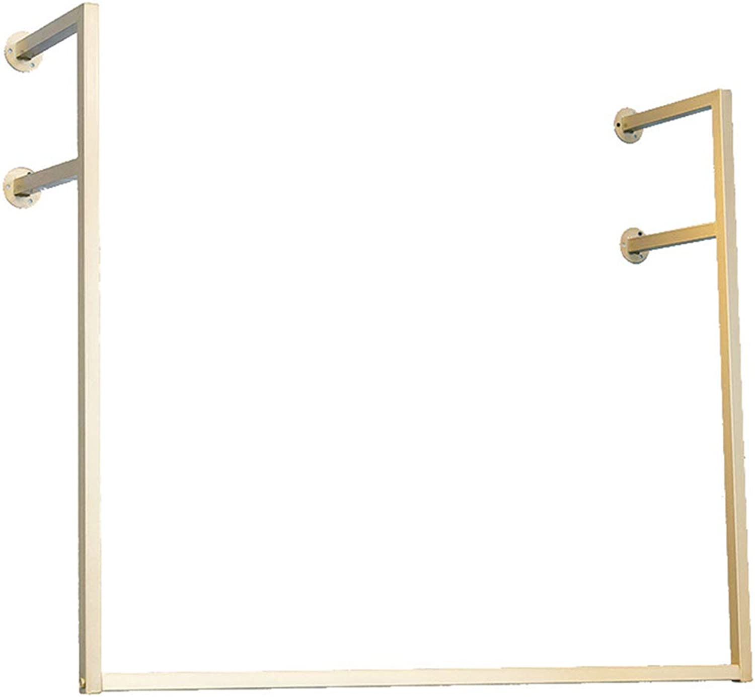 Coat Rack, gold Wrought Iron Clothing Display Stand Wall Hanging Side Hanging Clothes Hanger