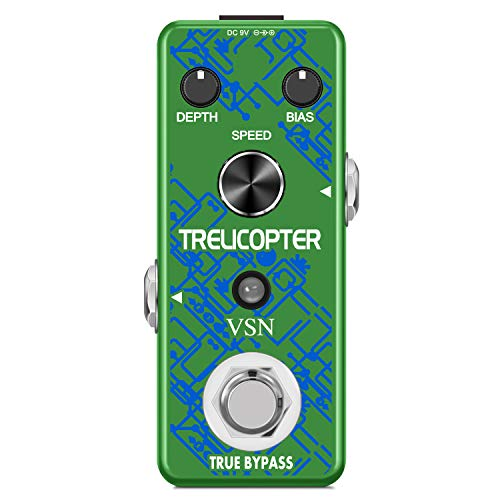 VSN Guitar Tremolo Effect Pedal of Classic Trelicopter Effects Pedals for Electric Guitar Effect True Bypass