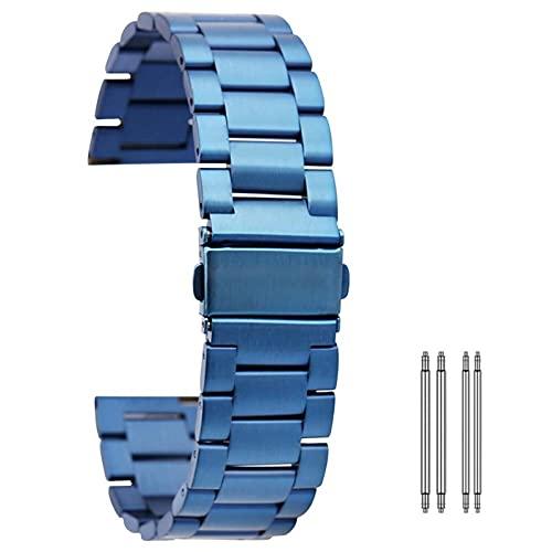 RVTYR Reloj Correa, 20 / 22mm Correa Azul Real Correa de Metal Deportes de Acero Inoxidable Pulsera de Acero Inoxidable Pulsera de reemplazo Mujeres Mujeres Pulsera Correas de Repuesto