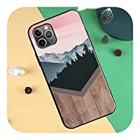Forest Geometry Wood Nature Cases for iPhone 12 mini 11 Pro Max XR X XS Max 6S 7 8 Plus SE 2020 Cover Funda-471-for iPhone XS MAX