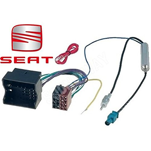 Sound-way Adapterkabel ISO Autoradio, Antenne Adapter Fakra, compatibel met Seat Altea, Ibiza, Leon