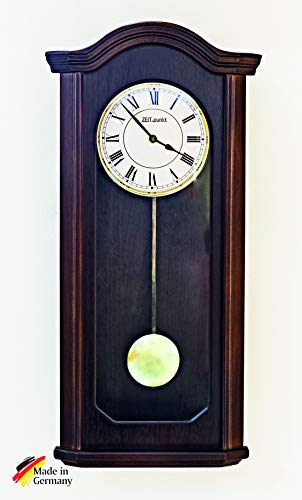 ZeitPunkt Säntis Funk Wanduhr Pendeluhr Regulator, Made IN Germany, massives Holzgehäuse, BIM BAM Schlag & Westminster - 345412