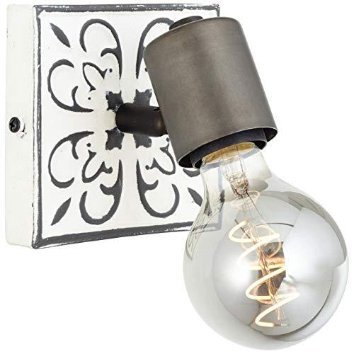 BRILLIANT Vagos Wandspot schwarz/weiß Innenleuchten,Strahler,-Wand | 1x A60, E27, 28W, geeignet für Normallampen (nicht enthalten) | A++ | Kopf schwenkbar