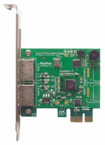 High Point RocketRAID 622 2 eSATA Port PCI-Express 2.0 x1 SATA 6Gb/s RAID Controller
