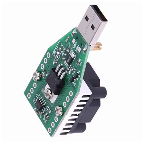 Hotaluyt 15W USB Lastwiderstand DC 3.7-13V einstellbare Konstantstrom Elektronik Last Entlader Batterie-Kapazität Test-Messinstrument mit Fan