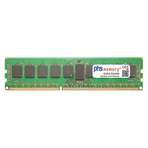 PHS-memory 4GB RAM módulo Adecuado/Adecuada para DELL PowerEdge T320 DDR3 RDIMM 1600MHz PC3L-12800R