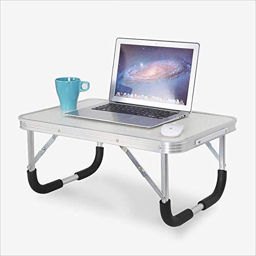 Axdwfd Table d'ordinateur portable petite table pliante, idéal pour balcon de chambre à coucher salon extérieur 60 * 40 * 30 cm (blanc, bois, rose) (Couleur : Blanc)
