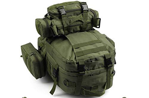 50L Molle Táctico 3 Day Asalto Militar Mochila/Armada Mochila/Acampada Bolso - Verde, 50L