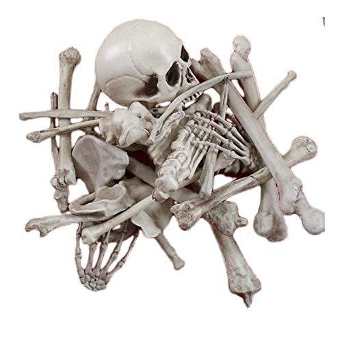 XHCP Skeleton Scattered Requisiten Life Size Skull Outdoor-Verwendung für Halloween-Dekor oder gruselige Friedhofsbodendekoration